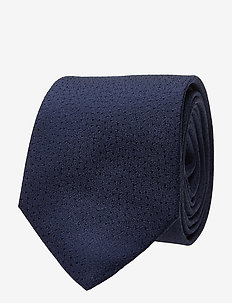 MAdean Solid Dot - ties - dark navy