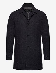 MAphilman Wool - wełniane płaszcze - dark navy