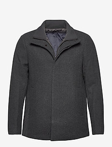 MAharvey short - wool jackets - medium grey melange