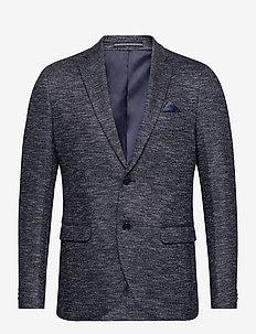MAgeorge Jersey - enkeltradede blazere - dark navy