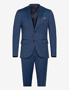 Small Stripe - single breasted suits - ink blue