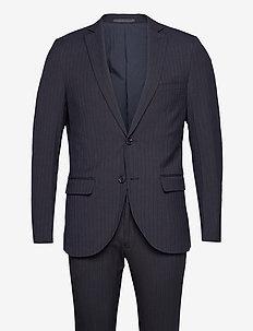 Stripe bi-stretch suit - dressbukser - dark navy