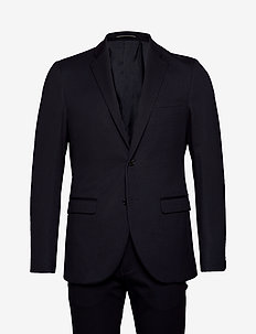 Stripe Jersey Suit - jakkesæt - dark navy