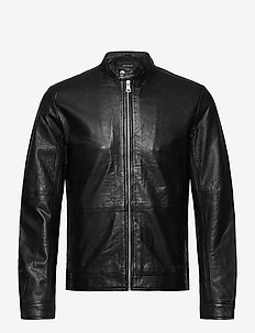MAadron - leather jackets - black