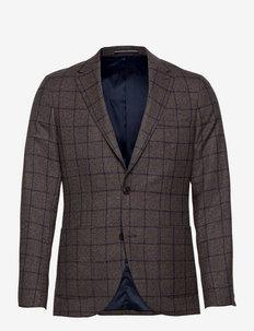 MAgeorge - blazers met enkele rij knopen - dark brown