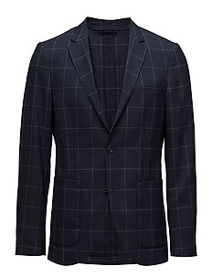 George Waffle Check - TINTED NAVY