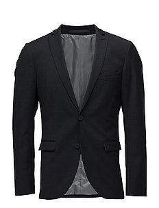 George F Square Pattern Suit - DARK NAVY