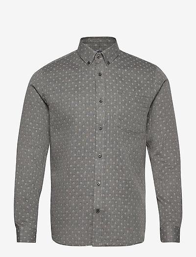 Trostol BD - chemises de lin - dark grey melange