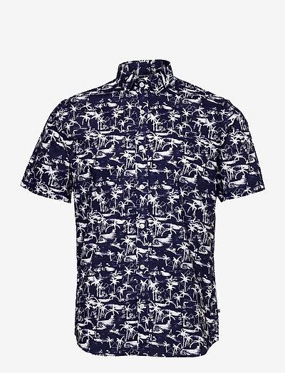 MAtrostol SS - checkered shirts - vallarta blue