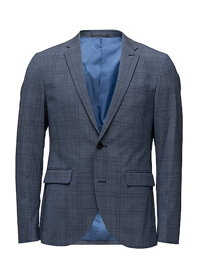 George Mid Blue Check - WASHED BLUE