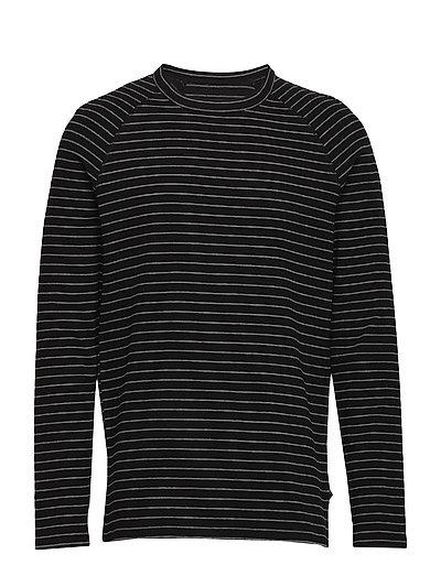 Jairo Long Sleeve stripe - BLACK