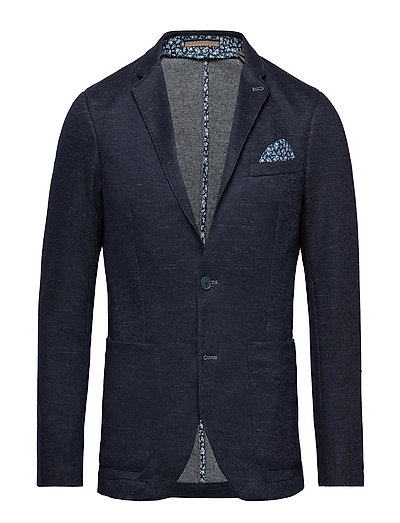 George Jersey Jersey Suit - BLUE MELANGE