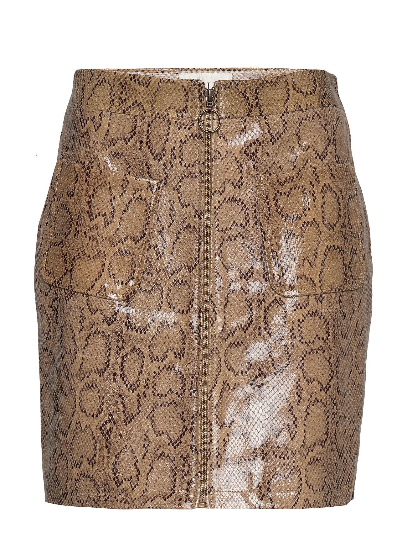 Image of Animal Short Skirt Kort Nederdel Beige MAUD (3244284223)