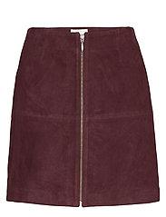 Leather Skirt Short - VINEYARD WINE