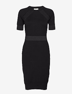 Fancy Knit Dress - BLACK