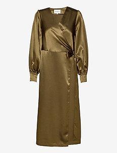 COSTA DRESS LONG - omslagskjoler - vetiver