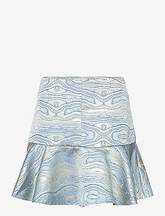 Moire Skirt - korta kjolar - blue fog