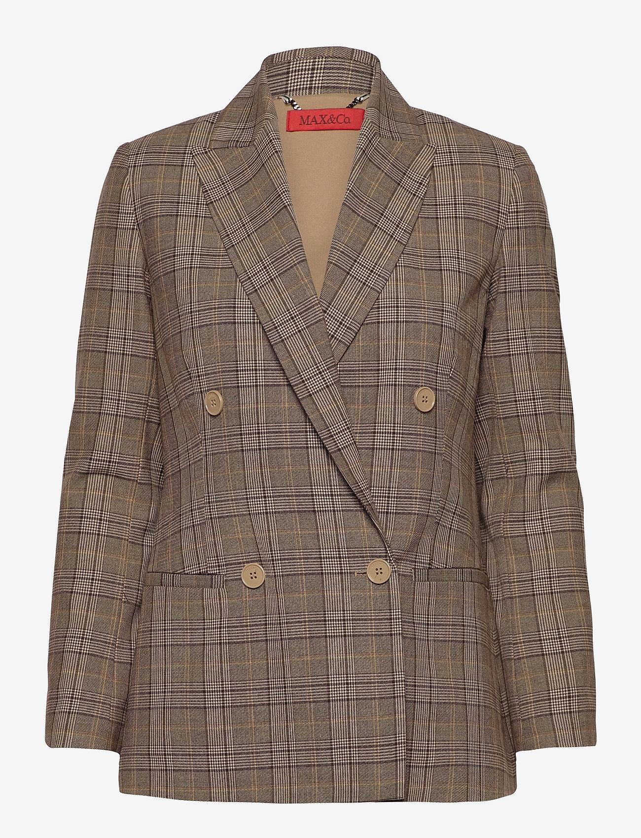 Max&Co. - CAGLIARI - oversized blazers - beige pattern - 0