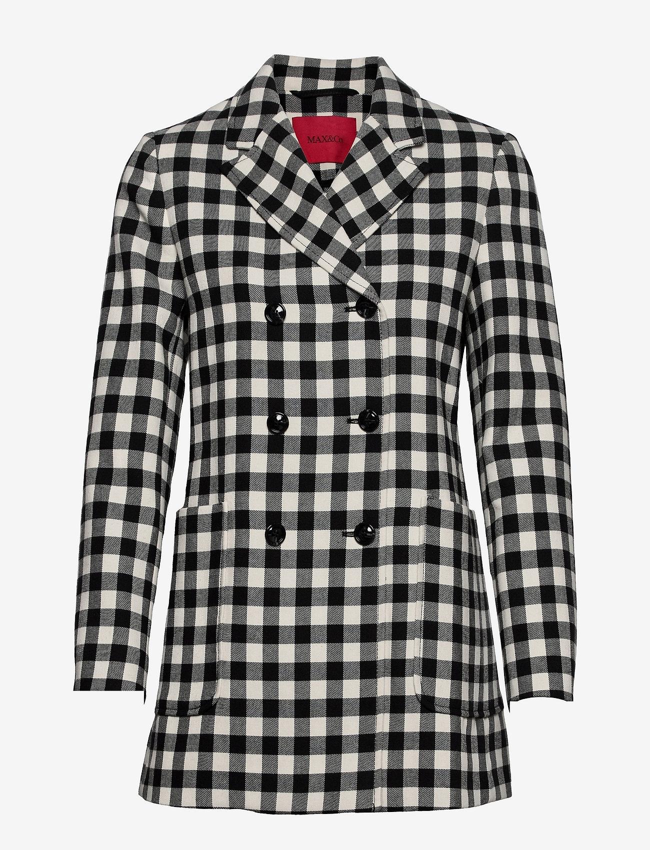 Max&Co. - BALDANZA - trenchcoats - black pattern - 0