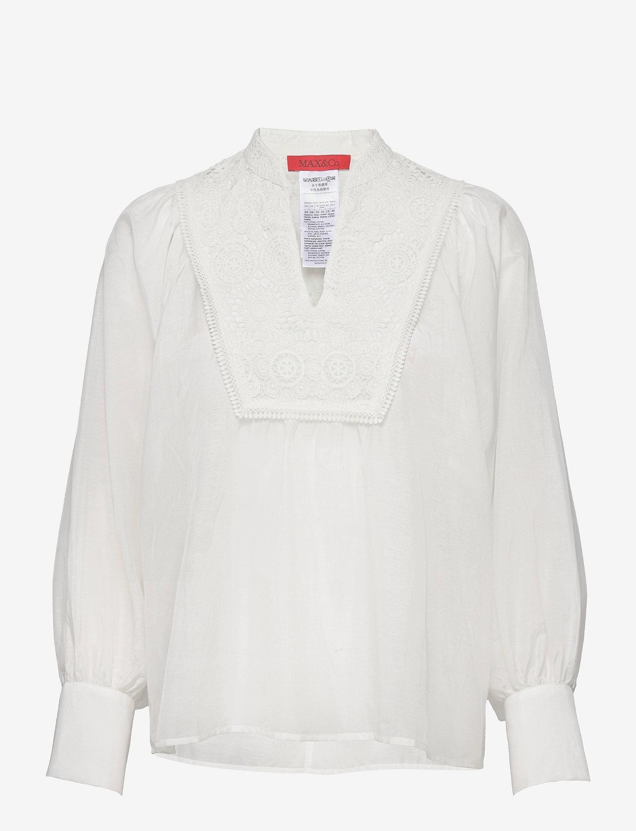 Max&Co. - ALBENGA - blouses met lange mouwen - ivory - 0