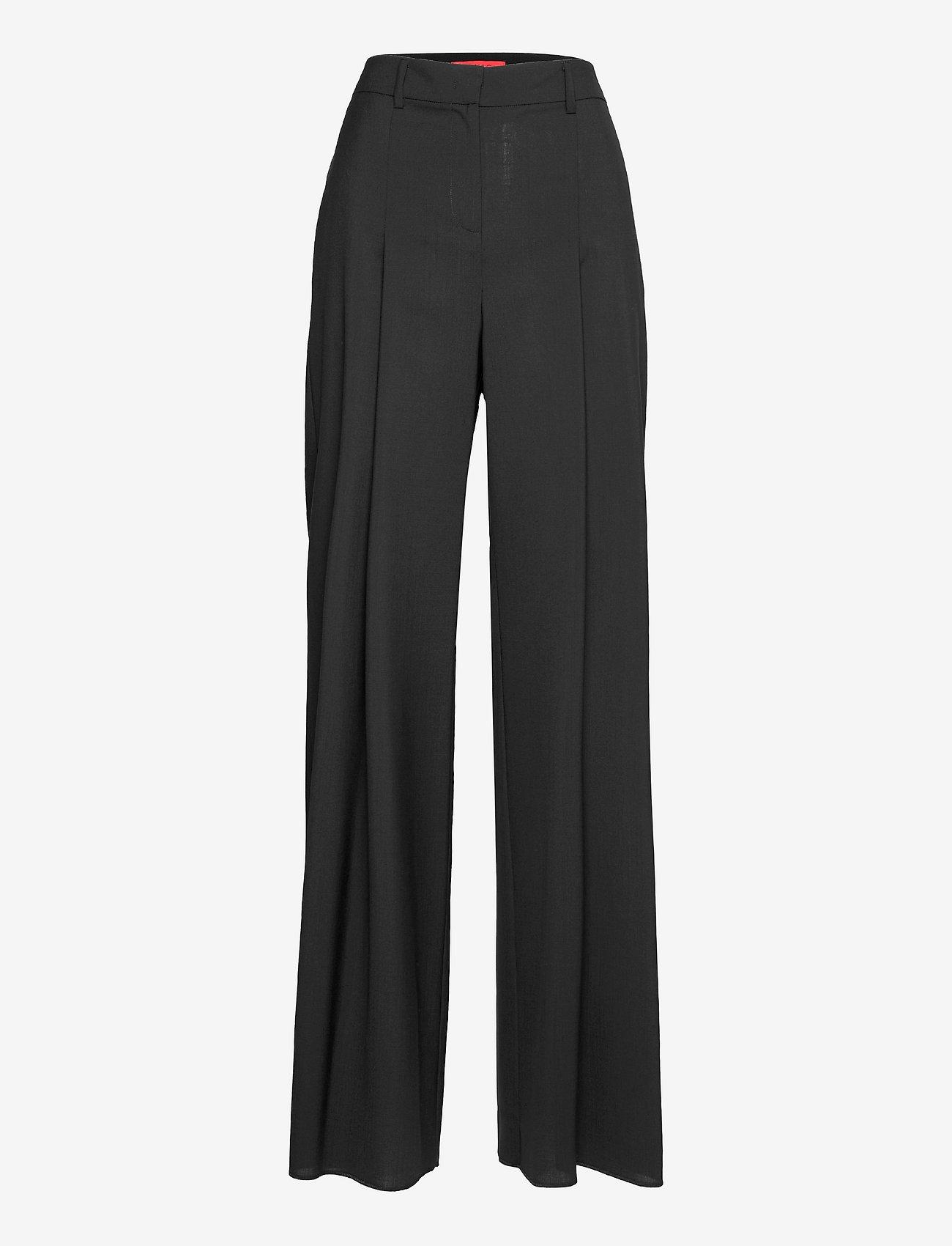 Max&Co. - CINCIN - bukser med brede ben - black - 0