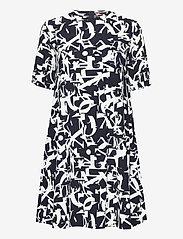 Max&Co. - CRONACA - alledaagse jurken - navy blue pattern - 0