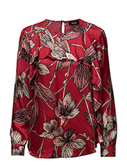 PAOLA - CHILI PEPPER RED, PINK FLOWER PATTERN