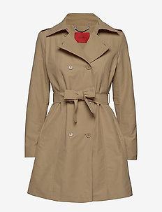 DAIANA - trenchcoats - brown