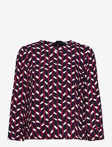 ROCCIA - blouses met lange mouwen - burgundy pattern