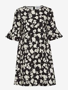 DORIA - korta klänningar - black, cream clover pattern