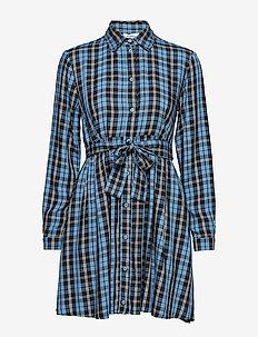 DENSITA - skjortekjoler - midnight blue pattern