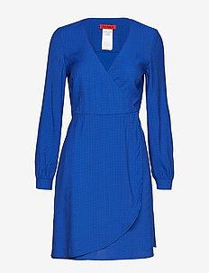 DATIVO - slå-om-kjoler - turquoise pattern