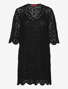 DARWIN - kanten jurken - black