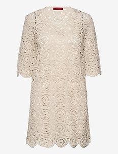 DARWIN - kanten jurken - white