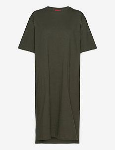 TDRESS - midi jurken - khaki green
