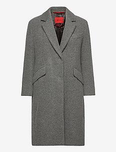 QUARZO - wollen jassen - medium grey