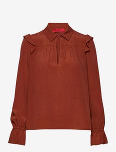 MIRTILLO - bluzki z długimi rękawami - rust