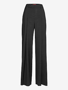 CINCIN - bukser med brede ben - black