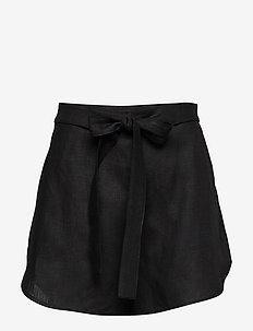 CENTRINO - paper bag shorts - black