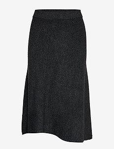 COROLLA - midi skjørt - dark grey