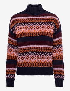 SCHERMO - trøjer - midnight blue pattern