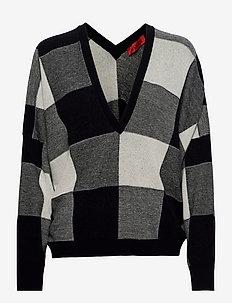 SAGGIARE - truien - black pattern