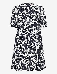 CRONACA - alledaagse jurken - navy blue pattern