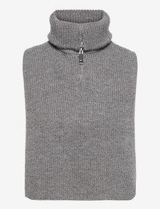 MILENA - kootud vestid - light grey