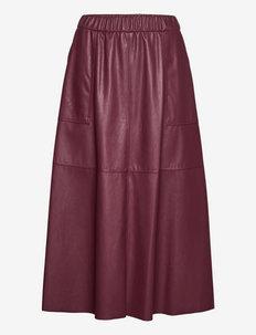 COMETA - midi rokken - burgundy