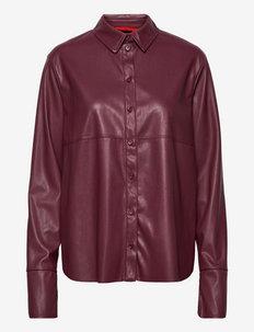 COMFORT - koszule z długimi rękawami - burgundy