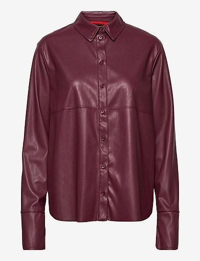 COMFORT - overhemden met lange mouwen - burgundy