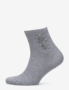 TROPEA - LIGHT GREY MELANGE STOCKINGS