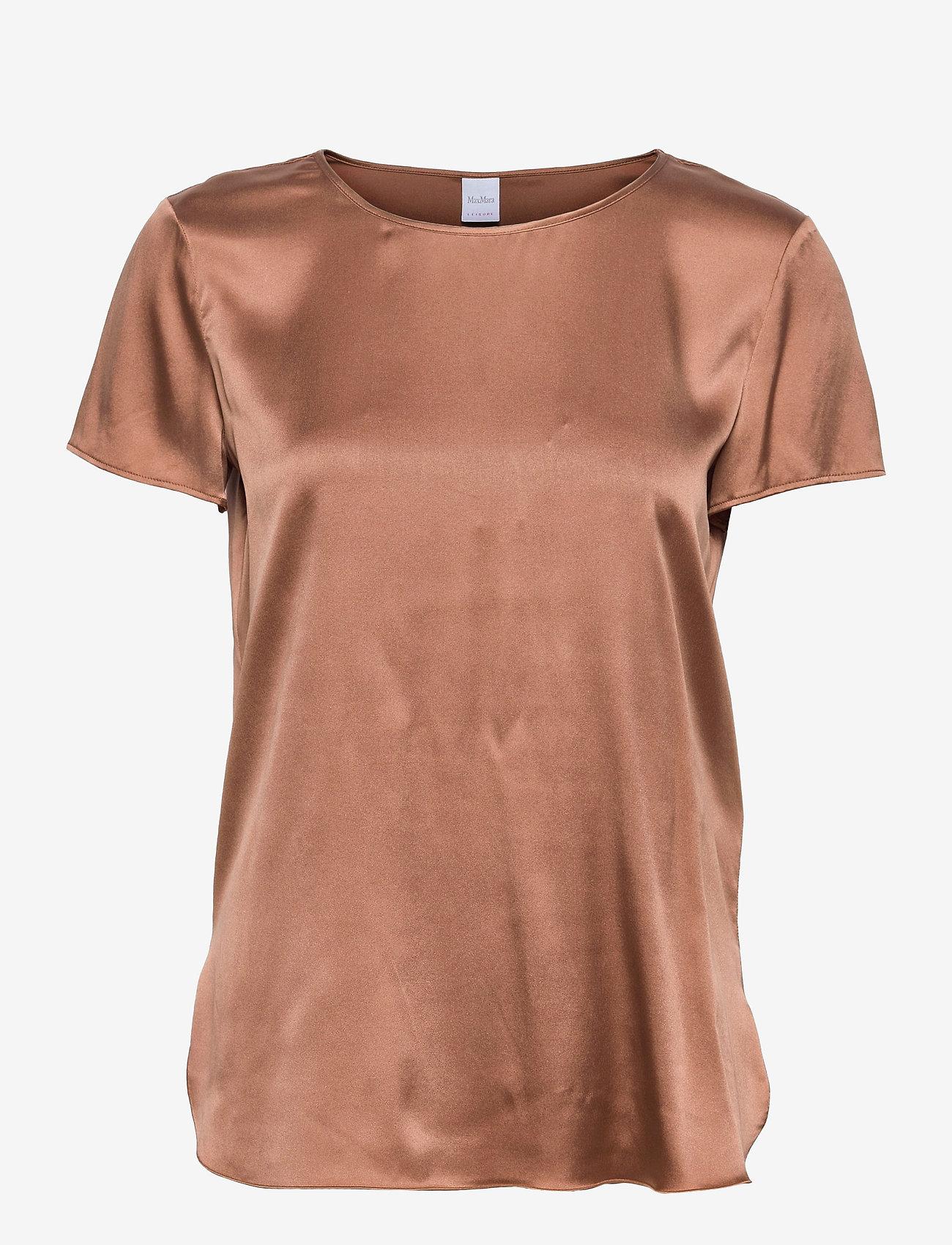 Max Mara Leisure - CORTONA - short-sleeved blouses - tobacco - 0