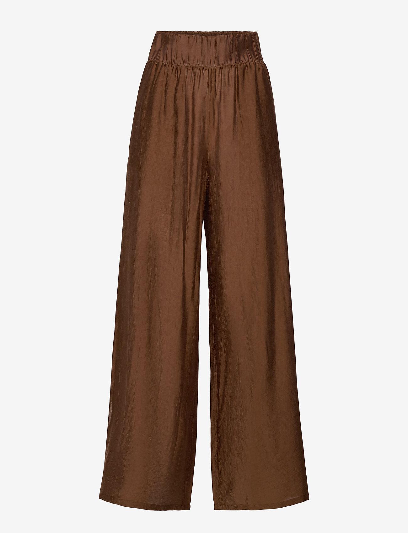 Max Mara Leisure - GREENH - wide leg trousers - brown - 0